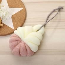 Draagbare opknoping Bad Flower Ball zachte schuimende douche massage bal lichaam exfoliërende bad borstel (roze)