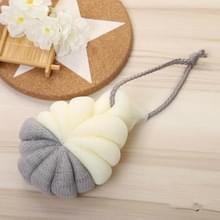 Draagbare opknoping Bad Flower Ball zachte schuimende douche massage bal lichaam exfoliërende bad borstel (grijs)