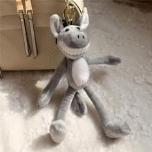 Piggy pluche speelgoed sleutelhanger pluche kleine hanger partij huwelijksgeschenk (grijs)