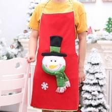 Keuken kerst kostuum schort kerstfeest decoratie (sneeuwpoppen)