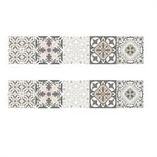 2 PCS Retro Tile Stickers Keuken Badkamer PVC Zelfklevende Muur Stickers Woonkamer DIY Decor Behang Waterdichte Decoratie  Stijl: Lamineren (MZ039 A)