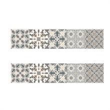 2 PCS Retro Tile Stickers Keuken Badkamer PVC Zelfklevende Muur Stickers Woonkamer DIY Decor Behang Waterdichte Decoratie  Stijl: Lamineren (MZ039 C)