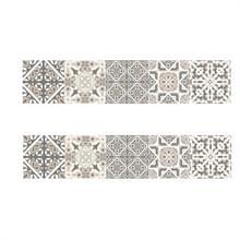 2 PCS Retro Tile Stickers Keuken Badkamer PVC Zelfklevende Muur Stickers Woonkamer DIY Decor Behang Waterdichte Decoratie  Stijl: Lamineren (MZ039 D)