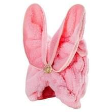Microfiber Solid Hair tulband snel droog haar hoed gewikkeld handdoek (lichtroze)