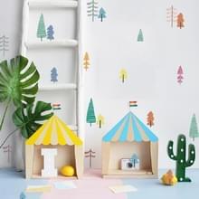 Muur sticker woonkamer achtergrond meubilair muur decoratie transparante sticker  stijl: boom PA106