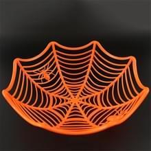 2 PC'S Halloween Spider Web Candy basket Candy Bowl kunststof Candy vak Halloween decoratie Party Supplies (oranje)