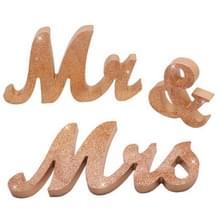 Houten heer en mevrouw Sign Wedding Decoratie (JM01669)