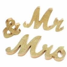 Houten de heer en mevrouw Sign Wedding Decoratie (JM00801)