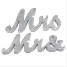 Houten de heer en mevrouw Sign Wedding Decoratie (JM00976)