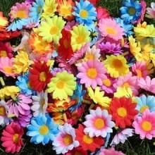 100 stuks 12 blad zon bloem hoofd simulatie kleine chrysant zonnebloem Flower Head (kleur mengen)
