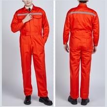 Waterdichte winddichte katoen reflecterende mode mannen en vrouwen Conjoined werken uniformen  grootte: 170/L (oranje)