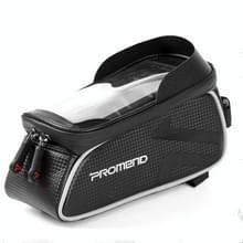 PROMEND waterdichte MTB racefiets touch screen tas voor 6 0 inch telefoon  kleur: zwart