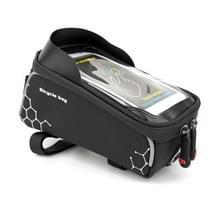 PROMEND waterdichte MTB racefiets touch screen tas voor 6 0 inch telefoon  kleur: zwart-wit neutraal magische plein
