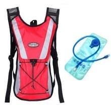 Outdoor Sports Mountaineering Fietsrugzak met 2L Water Bag(Rood)