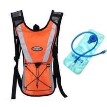 Outdoor Sports Mountaineering Fietsrugzak met 2L Water Bag (Oranje)