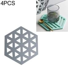 4 STKS geometrie vilt huishoudelijke servies schotel isolatie mat Cup absorberend pad  kleur: grijs-blauw (driehoek)
