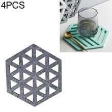 4 STKS geometrie vilt huishoudelijke servies schotel isolatie mat Cup absorberend pad  kleur: donkergrijs (driehoek)