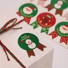 10 stuks Christmas Gift Box Seal sticker biscuit tas cake vak sticker  willekeurige kleur levering