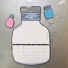 Wensen fles muur sticker Message Board magnetische schema koelkast sticker