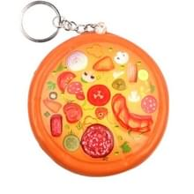 Leuke pizza decompressie Toy druk Relief sleutelhanger  grootte: 8.5 * 2cm (oranje)