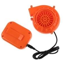 Lage ruis plastic DC mini blower kan worden gebruikt voor mascotte hoofd auto kleding opblaasbare (oranje)