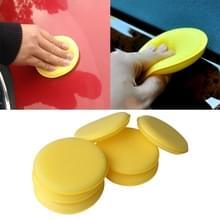 5 STKS auto voertuig Wax Pools schuim spons hand zachte Wax gele spons pad voor auto detaillering Care Wash