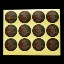 10 stuks kerst bakken stickers Kraft afdichtingsband  grootte: 3.5 cm in diameter (Jingle Bell)
