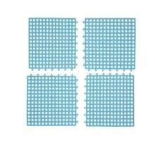 4 PCS Non-slip Douchemat Badkamer Vierkante PVC Badmatten voor keuken en toilet  grootte: 30CM x 30CM (Blauw)