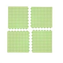 4 PCS Non-slip Douchemat Badkamer Vierkante PVC Badmatten voor keuken en toilet  grootte: 30CM x 30CM (Groen)