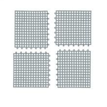 4 STKS anti-slip douche mat badkamer vierkant PVC Badmatten voor keuken en toilet  grootte: 30CM x 30CM (grijs)