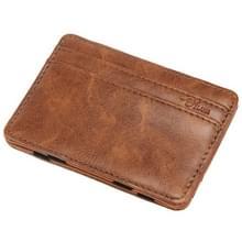 JINBAOLAI creatieve retro korte mannen portemonnee kaart pakket (licht bruin)