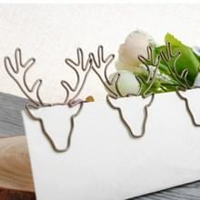 8 stuks/set herten hoofd paperclip vormige paperclip creatieve vorm PIN bladwijzer