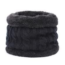 Kinderen Winter Warm Velvet Elastische Gebreide Sjaal  Lengte:60cm of minder (Zwart)