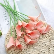 2 PC'S simulatie Calla Lelie nep bloem tafel decoratie kunststof decoratieve bloem boeket (koraal roze)