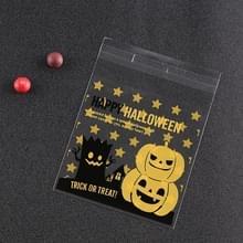 100 STKS/pak Halloween pompoen hoed elf Gift Bag Candy tas sieraden tas (pompoen en boom demon)