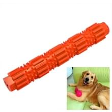 Huisdier honden training kauwen huisdier speelgoed sterke Bite resistente honden rubber Molar speelgoed  maat: S (Orange)