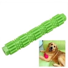 Pet Dogs Training Chew Pet Toys Strong Bite Resistant Dogs Rubber Molar Toys  Size:L(Green)