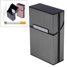 Aluminium sigaar sigaret geval tabak houder Pocket Box opslag container roken set (grijs)