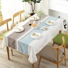 Geruite decoratieve linnen tafellaken met kwast waterdichte olie dichte dik rechthoekige eettafel doek  type: bloem kant  grootte: 140 × 180cm (violet)