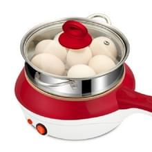 LingRui XB-3106 mini roestvrijstalen stoomboot eieren ketel elektrische koekenpan streamer  CN-stekker (rood)