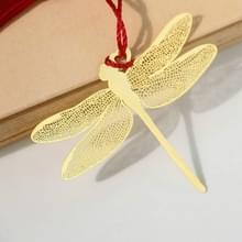 Messing Dragonfly klassieke metalen bladwijzer Office accessoires school benodigdheden (goud)
