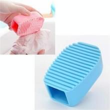 Hand held dikke siliconen mini Wasserij borstel (blauw)