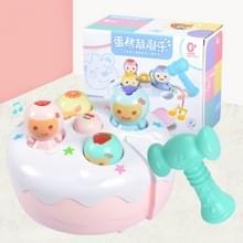Cake raken hamster elektrisch spel machine percussie met muziek baby puzzel kinderen speelgoed (roze)