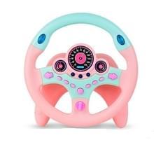 Simulatie stuurwiel co-bestuurder Seat kinderen speelgoed verkeer cognitieve muziek verhaal machine (roze)