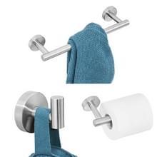 3 in 1 matte 304 RVS handdoek Bar papier handdoek rack haak badkamer accessoires bad douche set  kleur: zilver
