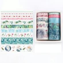 10 PCS / Box Fantasy Ocean Mooie planten bladeren papier tape DIY decoratie voor handboek plakband plakband (Duckweed)