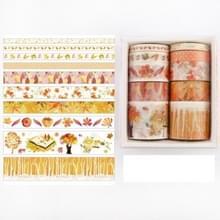 10 PCS / Box Fantasy Ocean Mooie planten bladeren papier tape DIY decoratie voor handboek plakband plakband (Herfst Woods)