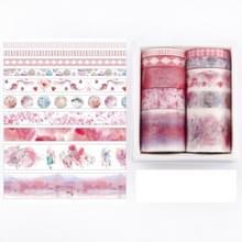 10 PCS / Box Fantasy Ocean Mooie planten bladeren papier tape DIY decoratie voor handboek plakband plakband (Field Mulberry)