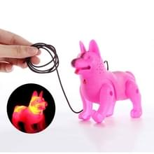 Lanyard hond lichtgevende muziek elektrische hond kinderen speelgoed  willekeurige kleur levering (902)