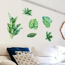 Zomer tropische groene plant verlaat woonkamer TV muur koelkast kast decoratieve muur stickers